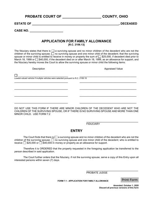 Form 7.1 Printable Pdf