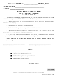 """Form 28.0 """"Motion by Guardian for Real Estate Sale by Consent"""" - Ohio"""