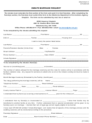 """Form OP-090128 Attachment A """"Inmate Marriage Request"""" - Oklahoma"""