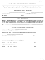 """Form OP-090128 Attachment B """"Inmate Marriage Request Tracking and Approval"""" - Oklahoma"""