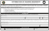 """Affirmation of Shared Residence for a Real Id Driver License, Permit or Identification Card"" - Oklahoma"