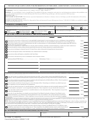 "AF Form 177 ""Notification of Qualification for Prohibition of Firearms, Ammunition, and Explosives"""