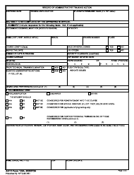 """AETC Form 125A """"Record of Administrative Training Action"""""""
