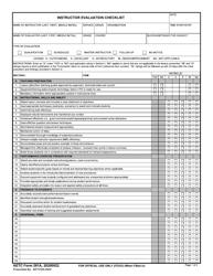 "AETC Form 281A ""Instructor Evaluation Checklist"""