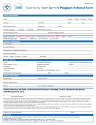 """Community Health Network Program Referral Form"" - Rhode Island"