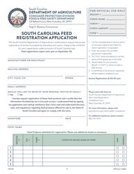 "CPD Form 1000 ""South Carolina Feed Registration Application"" - South Carolina"