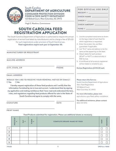 CPD Form 1000  Printable Pdf