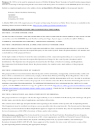 """DHEC Form 1329 """"Application for Transfer of Operating Permit for a Public Water System"""" - South Carolina, Page 2"""