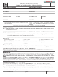 """Form TC-194 """"Request for Redetermination of County Decision"""" - Utah"""