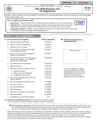 "Form TC-69 ""Utah State Business and Tax Registration"" - Utah"