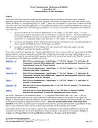 "Form OP-UA5 (TCEQ-10025) ""Process Heater/Furnace Attributes"" - Texas"