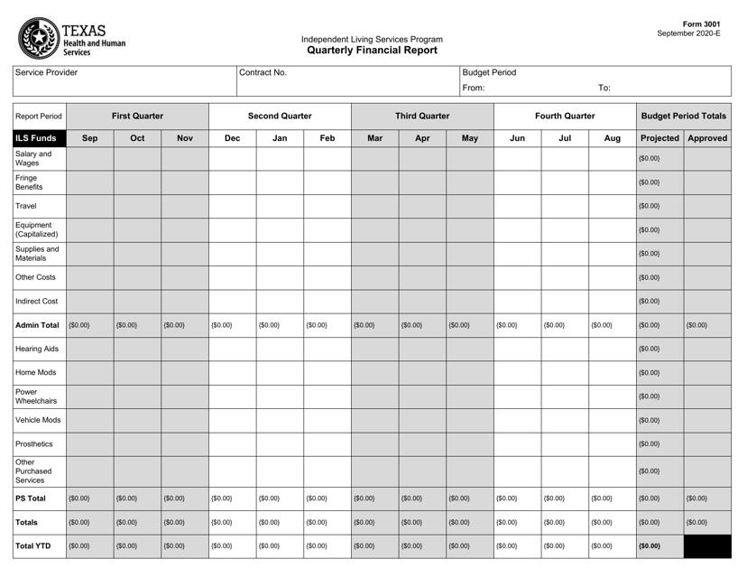Form 3001  Printable Pdf