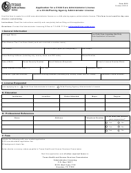 "Form 3015 ""Application for a Child Care Administrator License or a Child-Placing Agency Administrator License"" - Texas"