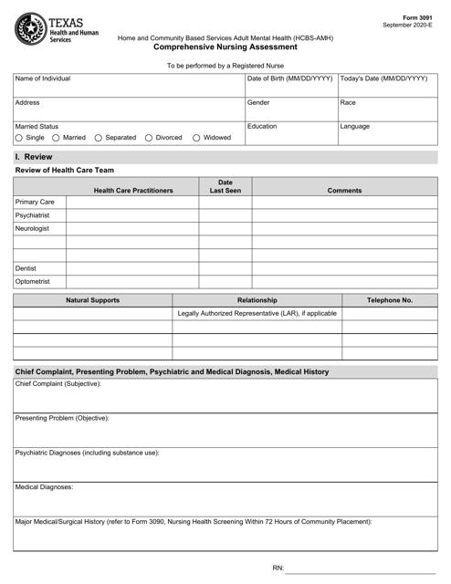 Form 3091  Printable Pdf