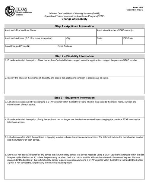 Form 3926 Printable Pdf