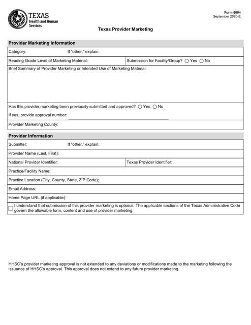Form 6004  Printable Pdf