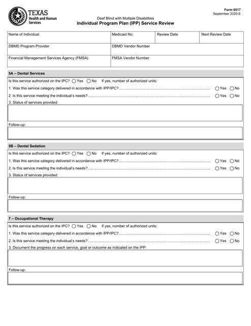 Form 6517  Printable Pdf