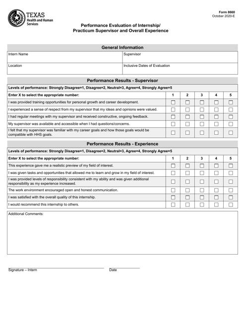 Form 8660 Printable Pdf