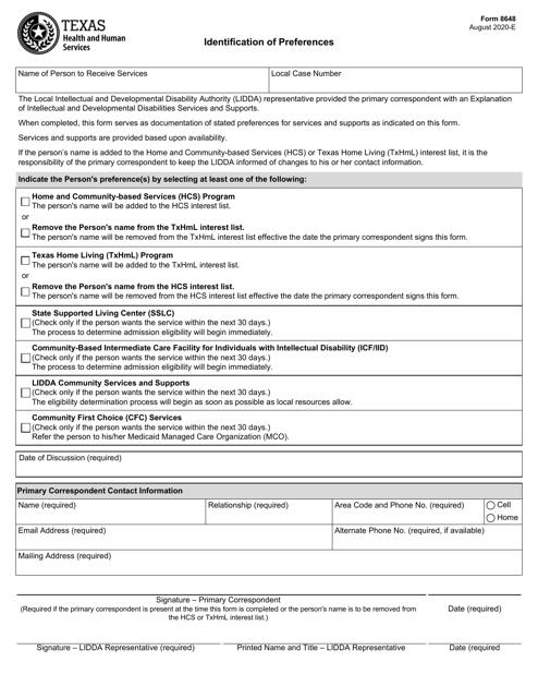Form 8648  Printable Pdf