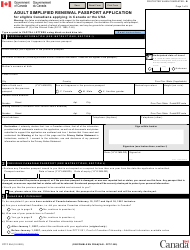 "Form PPTC054 ""Adult Simplified Renewal Passport Application for Eligible Canadians Applying in Canada or the Usa"" - Canada"