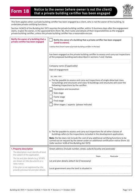 Form 18 Printable Pdf