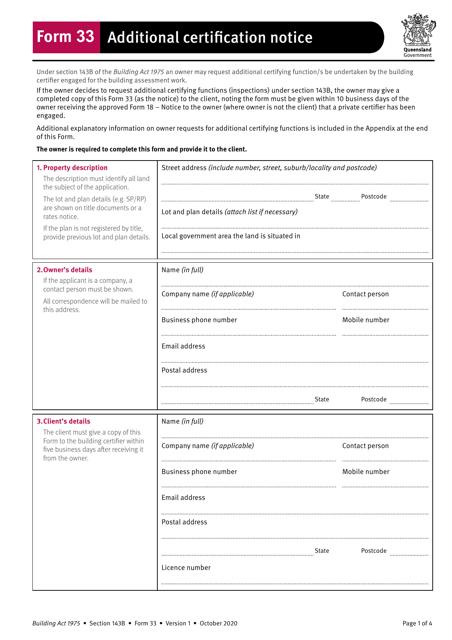 Form 33 Printable Pdf