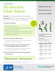 """""""The 30-second Chair Stand Test"""""""