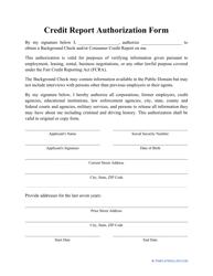 """Credit Report Authorization Form"""