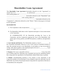 """Shareholder Loan Agreement Template"""