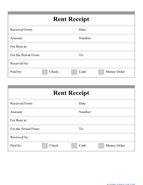 """Rent Receipt Template"" Download Pdf"