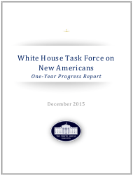 """""""White House Task Force on New Americans One-Year Progress Report"""""""