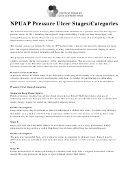 """""""Npuap Pressure Ulcer Stages/Categories"""""""