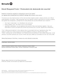 """Form 1 """"Initial Return/Notice of Change"""" - Ontario, Canada (English/French)"""