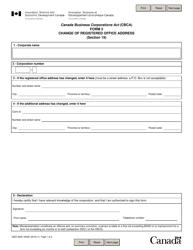 "Form 3 ""Change of Registered Office Address"" - Canada"