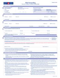 """Form 33-086-784 """"Mail Forwarding"""" - Canada"""
