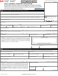 "Form PPTC153 ""Adult General Passport Application"" - Canada"