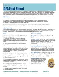 """""""DEA Fact Sheet"""""""