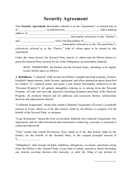 """Security Agreement Template"""