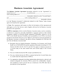 """Business Associate Agreement Template"""