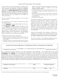 """Form ST-403 """"Commercial Farm Exemption Certificate"""" - Arkansas"""
