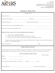 "Form 6 ""Change of Name Form"" - Arkansas"