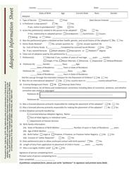 """""""Adoption Information Sheet"""" - Arkansas"""