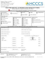 """""""Fee-For-Service Authorization Request Form"""" - Arizona"""