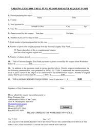 """Arizona Lengthy Trial Fund Reimbursement Request Form"" - Arizona"