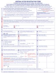 """Arizona Voter Registration Form"" - Arizona (English/Spanish)"