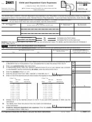 "IRS Form 2441 ""Child and Dependent Care Expenses"""
