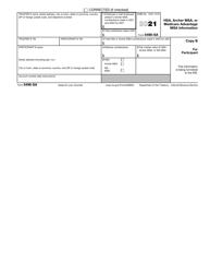 "IRS Form 5498-SA ""Hsa, Archer Msa, or Medicare Advantage Msa Information"", Page 2"