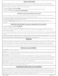 """Form DS-60 """"Affidavit Regarding a Change of Name"""""""
