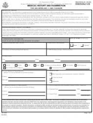 """Form DS-1622 """"Medical History and Examination for Children Age 11 and Younger"""""""