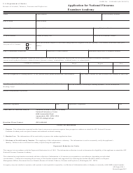 """ATF Form 6330.1 """"Application for National Firearms Examiner Academy"""""""